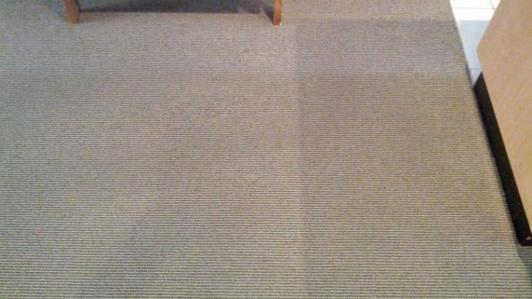 Low moisture carpet cleaning results.